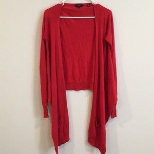 Ted Baker London waterfall cardigan red